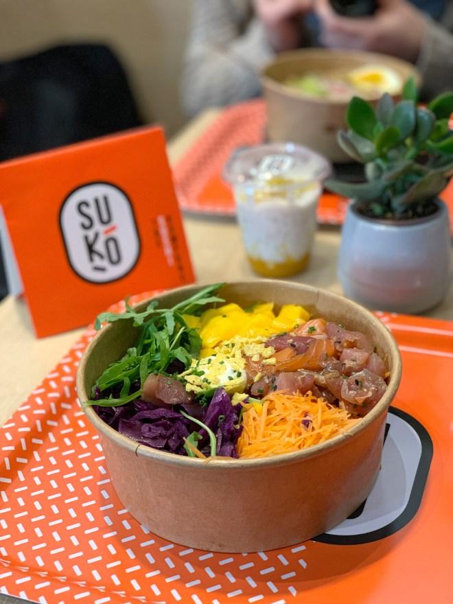 Poke bowl chez Suko sushi restaurant japonais à Nantes et Rezé