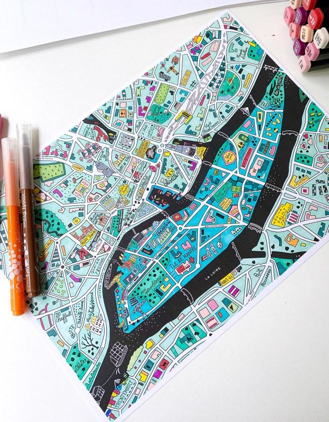 Plan d'Antoine Corbineau à colorier