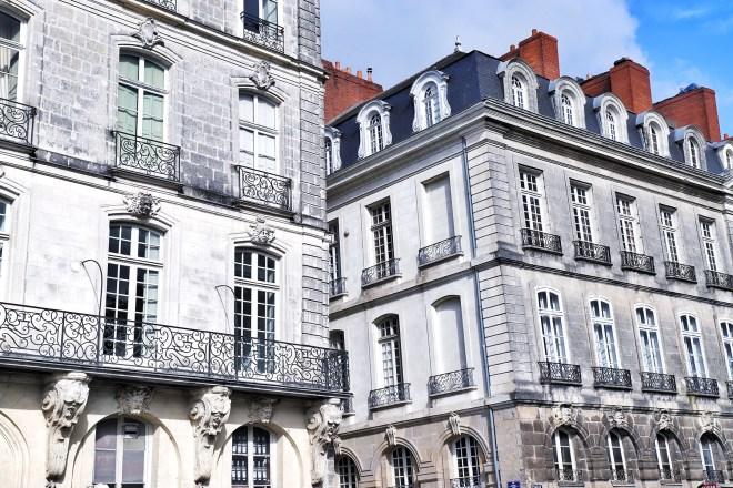 Beaux immeubles nantais penchés