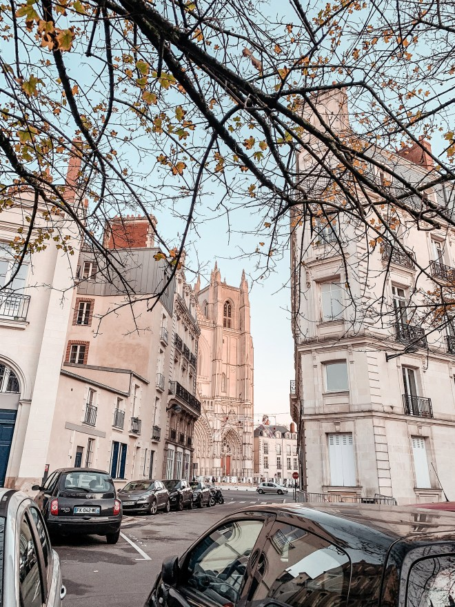 Le quartier Bouffay à Nantes en hiver