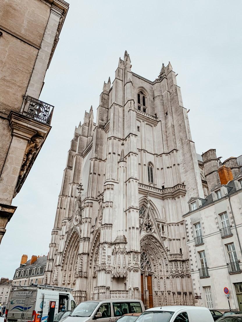 La cathédrale de Nantes en hiver