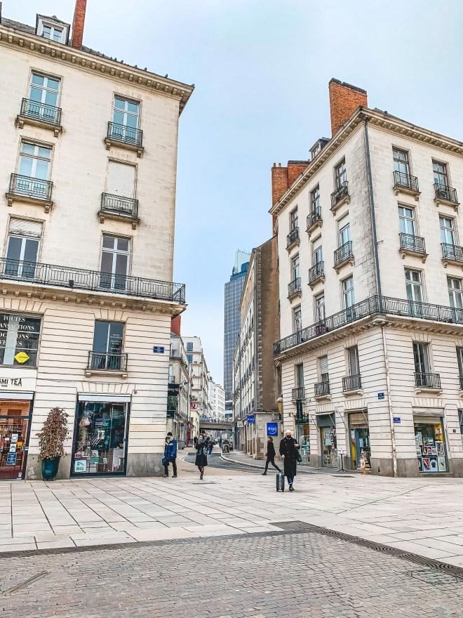 La Place Royale à Nantes en hiver