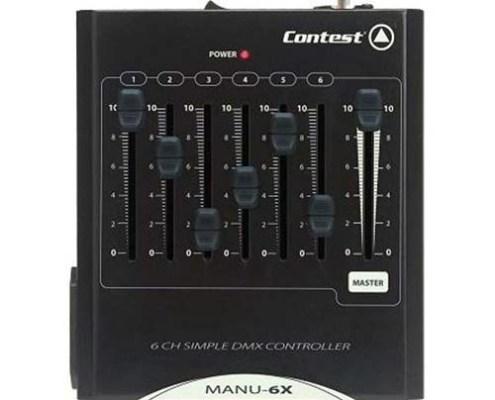 Contrôleur DMX 6 canaux + Master CONTEST - Nantes Sono - Location et vente de matériel de sono de lumière et de vidéo à Nantes (44)