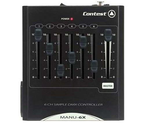 Contrôleur DMX 6 canaux + Master CONTEST - Sono 85 - Sono Nantes - Location et vente de matériel de sono de lumière et de vidéo