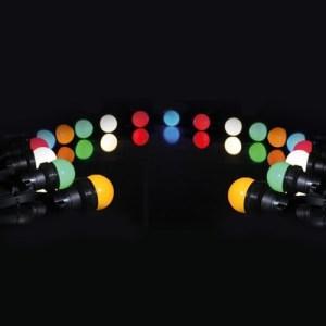 Location Guirlande de fête à Led 11 mètres 20 lampes Led Multicolores - Nantes Sono - Location et vente de matériel de sono de lumière et de vidéo à Nantes (44)
