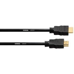 Câble HDMI 3 mètres CORDIAL CHDMI 3 - Nantes Sono - Location et vente de matériel de sonorisation de lumière et de vidéo à Nantes (44)