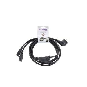 Câble d'alimentation 2 IEC - PC16 norme EU 3m PLUGGER Elite - Nantes Sono - Location et vente de matériel de sono de lumière et de vidéo - Pays de La Loire