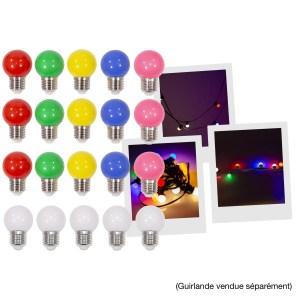 Pack de 20 Ampoules 6 couleurs Guirlande MAC MAH LAMP-20COL - Sono 85 - Sono Nantes - Location et Vente de matériel de sono de lumière et de vidéo