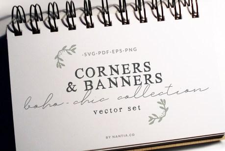 20 Boho-Chic Corners Vector Pack