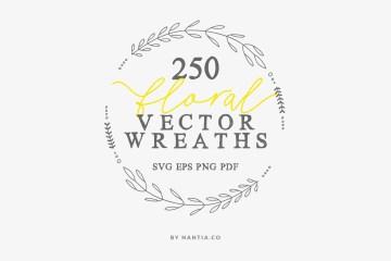 250 Wreaths Vector MEGAPack
