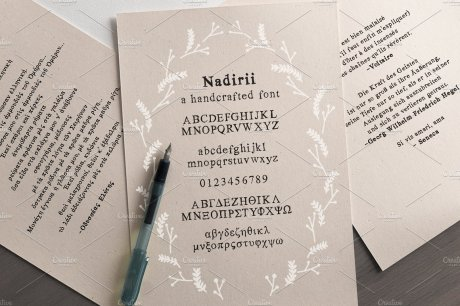 Nadirii Font Handcrafted