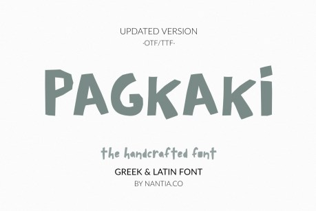 Pagkaki Handcrafted Greek Font