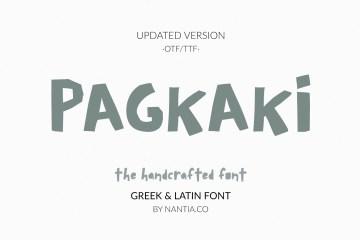 Pagkaki Handcrafted Greek Font