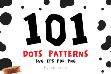 101 Dots Seamless Patterns Vector MegaPack