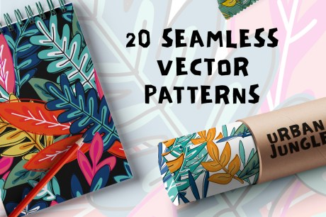 Urban Jungle Floral Vector Patterns