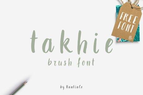Takhie Brush Font - Free Download