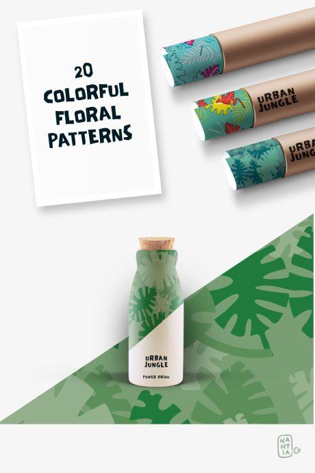 Seamless Patterns 20 x Urban Jungle Vol 3