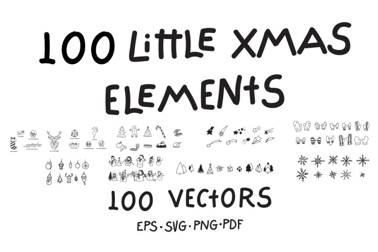 100 Little Xmas Elements