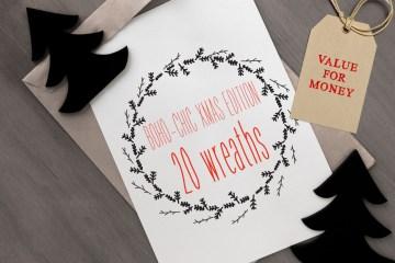 20 Xmas Vector Wreaths