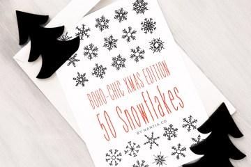 50 Vector Snowflakes Clip-Art