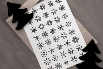 40 Vector Snowflakes Clip-Art
