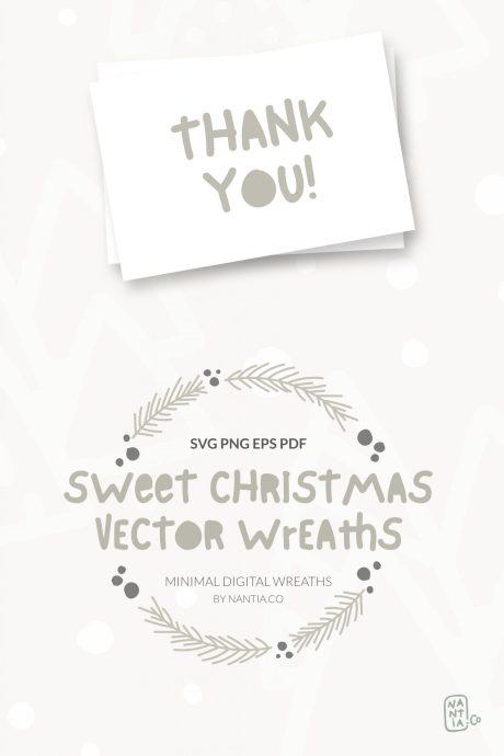 Sweet Christmas Vector Wreaths
