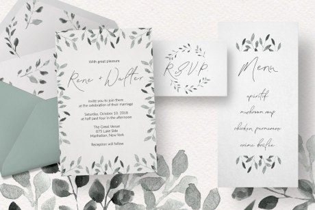 Wedding Foliage Design Set