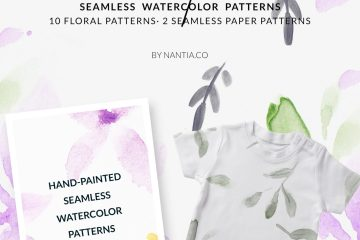 Violet Garden Watercolor Patterns