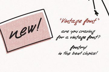Retro Handwritten Font Fontryl
