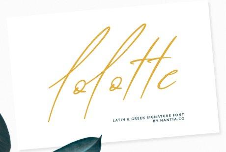 Lolotte Multilingual Signature Font