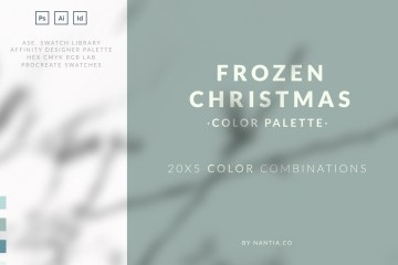 Frozen Christmas Color Palette collection