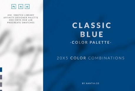 Classic blue Color Palette collection
