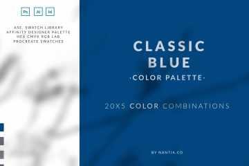Classic blue Color Palette
