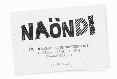 V Naondi Decorative Greek Font