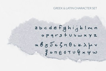 Okeanos Handwritten Greek Cyrillic Font