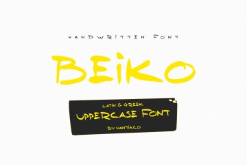 Beiko Uppercase Greek Font