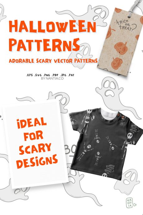 Halloween Seamless Vector Patterns Pack