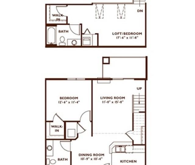 Bedroom Floor Plan Plan G Loft