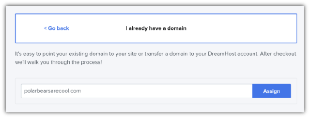 Register an Existing Domian Name