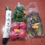 朝市の新鮮野菜@箕面