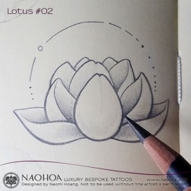 4x4 Zen Lotus flower design by Naomi Hoang.