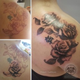 Triple Spiral Roses