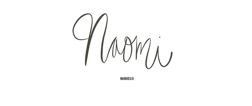 naomi voornaam handlettering logo website grafisch ontwerp