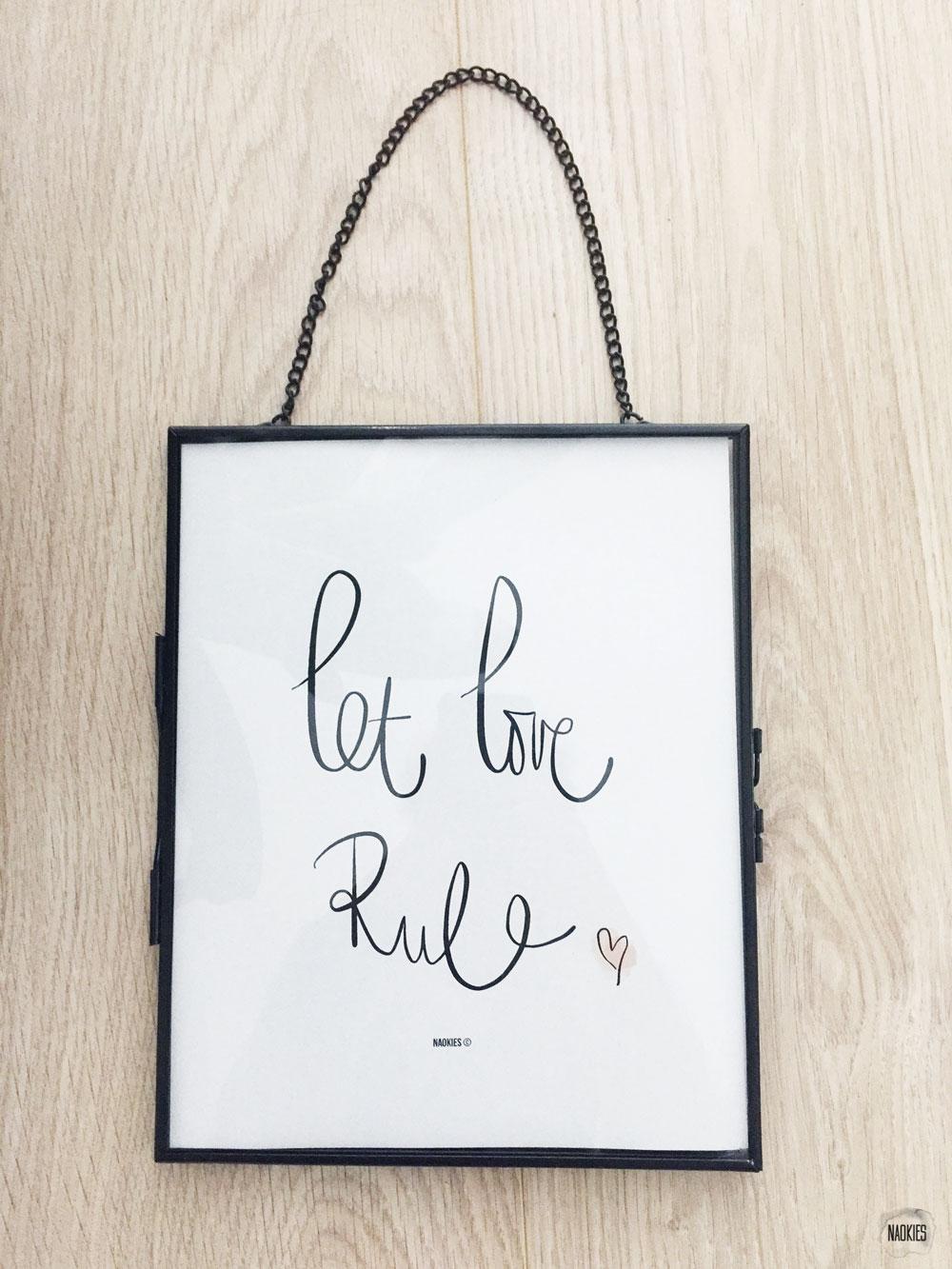 Let Love Rule handlettering poster Studio Naokies
