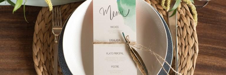 Fiesta Wedding menukaart tafelsetting studio naokies