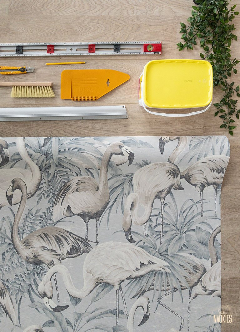 flamingo behang arte flatlay behangspullen studio naokies