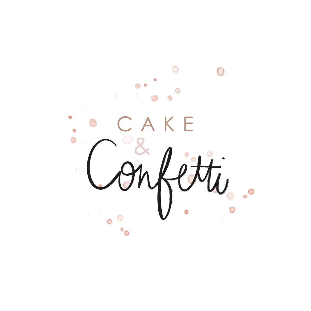 branding Cake & Confetti logo ontwerp handlettering Studio Naokies