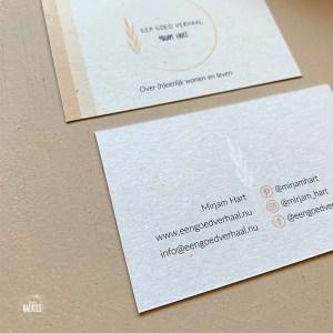 branding met visitekaartjes mirjam hart een goed verhaal studio naokies