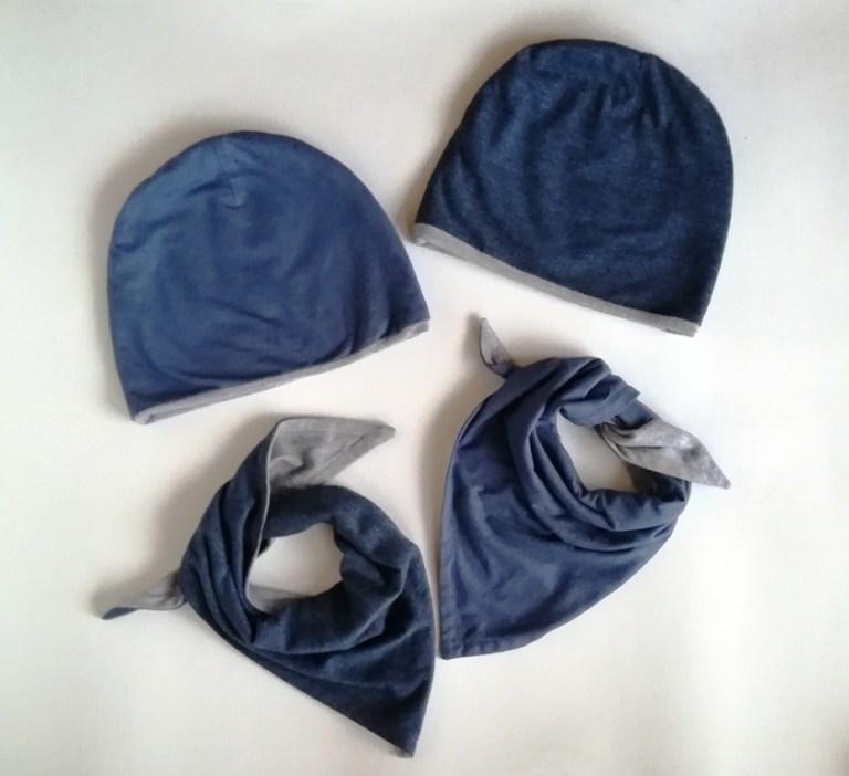 dziecięce czapki i chustki z dżerseju