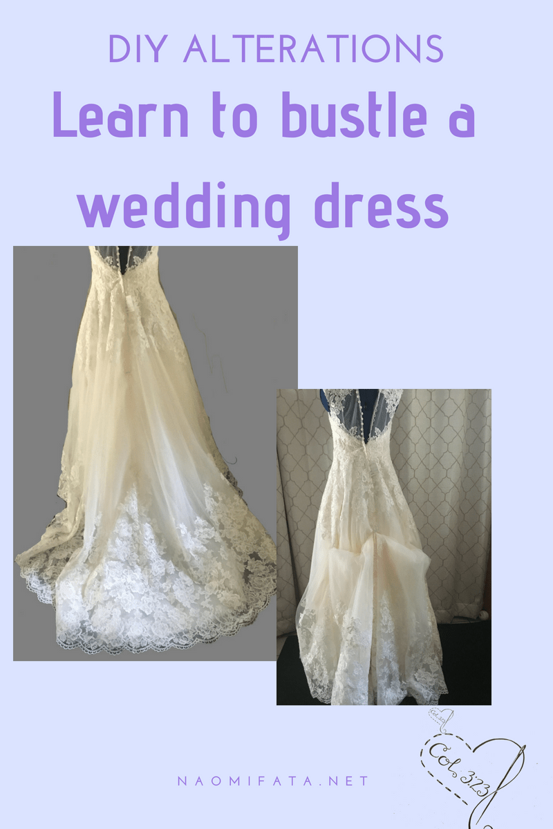 How To Bustle A Wedding Dress 6